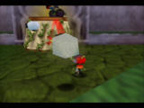 Rocket: Robot on Wheels Nintendo 64 Throw a sheep at brambles to make it stick and use it as a platform