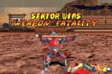 Mortal Kombat: Tournament Edition Game Boy Advance Sektor's winning pose after having executed with success his Weapon Fatality.