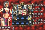 Mortal Kombat: Tournament Edition Game Boy Advance Character selection.