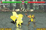 Mortal Kombat: Tournament Edition Game Boy Advance Through a shoulder-slam-style move, Rayden starts the counterattack against Scorpion.