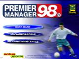 Premier Manager 98 Windows Title screen
