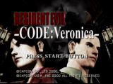 Resident Evil: Code: Veronica Dreamcast Title screen
