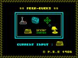 Mega-Bucks ZX Spectrum Control selection