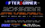 After Burner II Atari ST Title screen