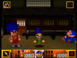 Goemon's Great Adventure Nintendo 64 You can switch characters at the teahouse - now we're playing as Sasuke.
