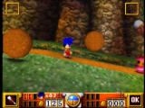 Goemon's Great Adventure Nintendo 64 You'll have to time your moves to dodge the boulders rolling towards the screen.