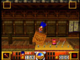 Goemon's Great Adventure Nintendo 64 This block can be pushed over the spikes to make it across them.