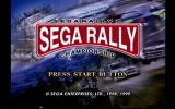 Sega Rally 2 Championship Dreamcast Title Screen