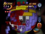 Tetrisphere Nintendo 64 Blocks break up and explode when cleared from the sphere