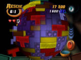 Tetrisphere Nintendo 64 An incorrectly placed piece makes you lose a heart