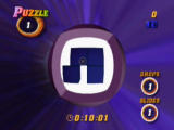 Tetrisphere Nintendo 64 Puzzle mode requires you to clear the puzzle with a set amount of moves