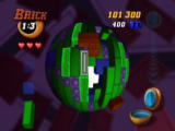 Tetrisphere Nintendo 64 This mode requires you to drop one of the bricks to the core