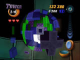 Tetrisphere Nintendo 64 Tower requires you to dig away all the pieces around the black tower