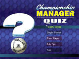 Championship Manager Quiz Windows Main menu