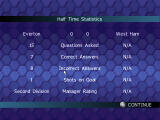 Championship Manager Quiz Windows Half-time statistics (not exactly Champion League form).