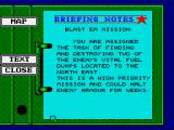 Battle Command ZX Spectrum Briefing for the simplest mission concept