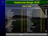 Championship Manager: Season 99/00 Windows Selecting a team
