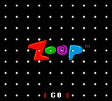 Zoop Game Gear Minimalistic title screen