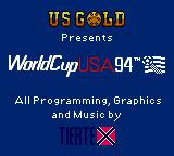 World Cup USA 94 Game Gear Title screen