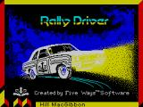 Rally Driver ZX Spectrum Loading screen
