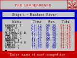 Rally Driver ZX Spectrum The times to beat