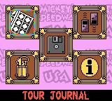 Mickey's Speedway USA Game Boy Color Special menu