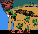 Mickey's Speedway USA Game Boy Color World map. You start in Los Angeles.