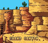 Mickey's Speedway USA Game Boy Color Grand Canyon intro screen