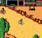 Mickey's Speedway USA Game Boy Color At the starting line for Grand Canyon