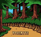 Mickey's Speedway USA Game Boy Color Yosemite intro screen