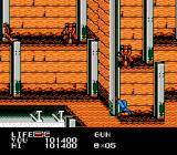 P.O.W.: Prisoners of War NES Shot by a well-aiming enemy guard.