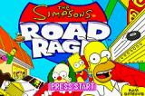 The Simpsons: Road Rage Game Boy Advance Title Screen