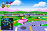 The Simpsons: Road Rage Game Boy Advance Homer in his beaten up pink car