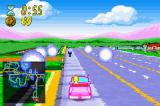 The Simpsons: Road Rage Game Boy Advance The spinning orbs indicate a fare that needs picking up