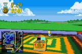 The Simpsons: Road Rage Game Boy Advance Otto misusing the school bus as usual