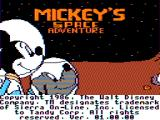 Mickey's Space Adventure TRS-80 CoCo Main credits screen