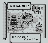 Mystical Ninja Starring Goemon Game Boy Stage map