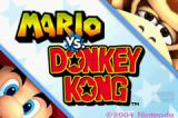 Mario vs. Donkey Kong Game Boy Advance Title Screen
