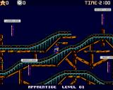 Wiz 'n' Liz Amiga Ride the roller coaster and select a land