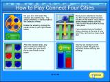 Connect Four Cities Windows Instructions on how to play Cities mode.