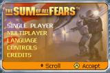The Sum of All Fears Game Boy Advance Title Screen