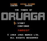 The Tower of Druaga NES Title Screen