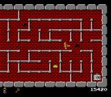 The Tower of Druaga NES At Floor 2 you'll have to fight those black slimes, which are faster than the green ones.