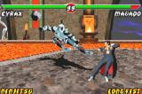 Mortal Kombat: Tournament Edition Game Boy Advance For being a little far away from Mavado, Cyrax's kick are seriously risked to fail...