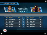 NBA Live 06 Windows The starting line-ups for the game