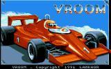 Vroom Amiga The title screen.