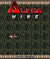 Alpha Wing J2ME Title screen