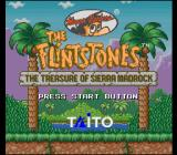 The Flintstones: The Treasure of Sierra Madrock SNES Title screen
