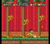 The Flintstones: The Treasure of Sierra Madrock SNES Mini-game - stop the monkeys from reaching the ground