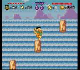 The Flintstones: The Treasure of Sierra Madrock SNES Jumping from log to log